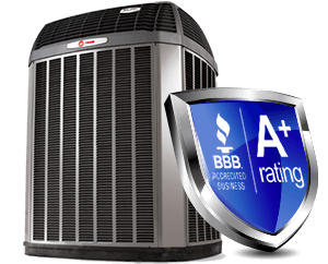A+ BBB rating with Trane AC